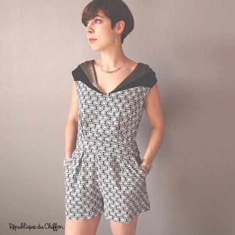 Schnittmuster für Damen - Melinda Playsuit Marke: République du Chiffon