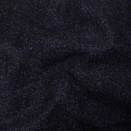 Drap de laine noir, bleu