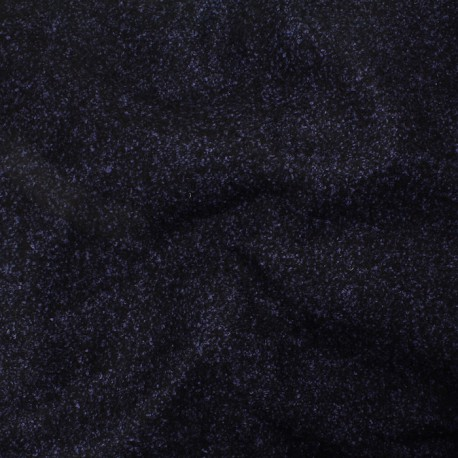 Wool blend - black, blue