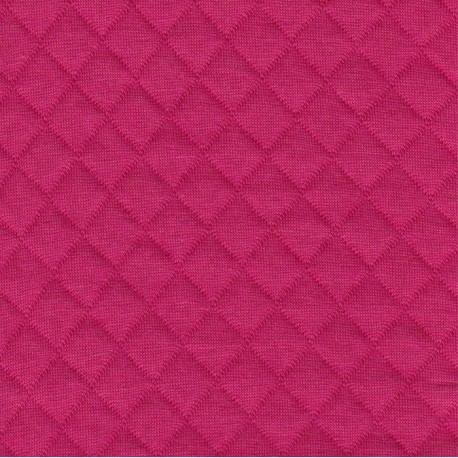 Fuchsia Quilted Jersey - France Duval Stalla