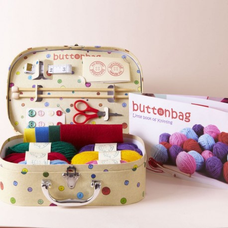 Buttonbag Learn How to Knit Suitcase