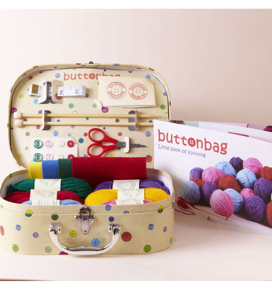 ButtonBag Learn To Knit and Crochet Dog Kit Giveaway