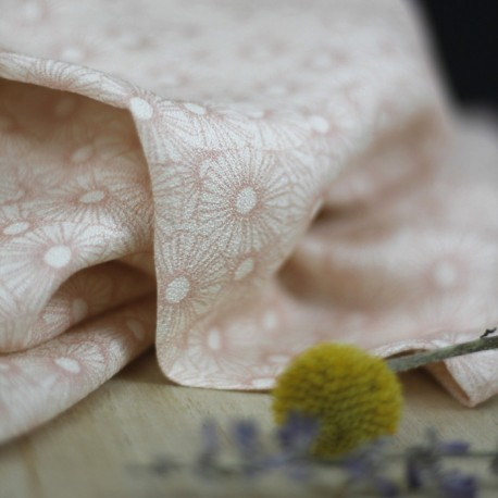 Crêpe de viscose Bleuroz - Miss Flower Blush