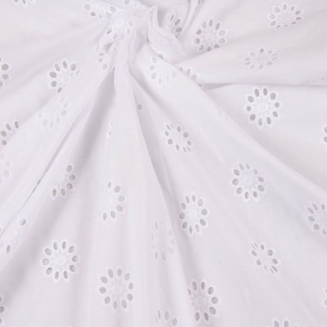 Cotton eyelet - Flower