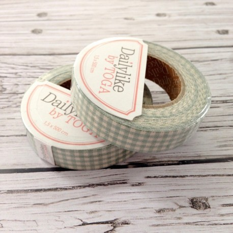 Fabric-tape-gingham-mint-Dailylike