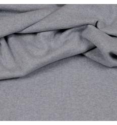 Bord-côte en jersey - Gris Chiné