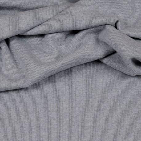 Rib knit fabric - Heather Gray