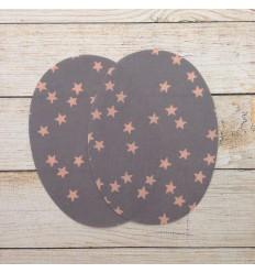 Aufbügelnder Patches - rosa Sterne