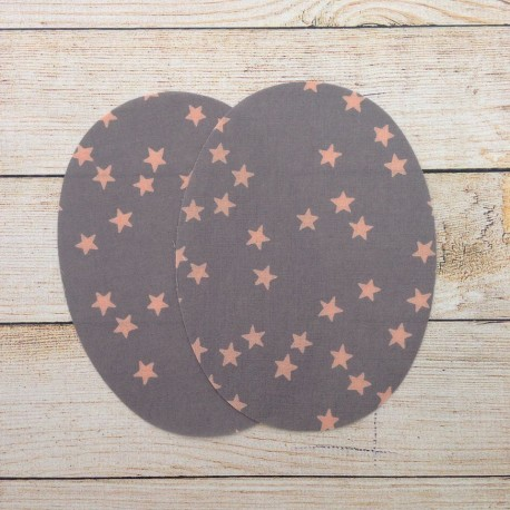 Iron-on patches Gray, pink stars France Duval Stalla
