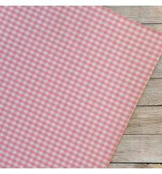 Dailylike fabric sticker - pink gingham