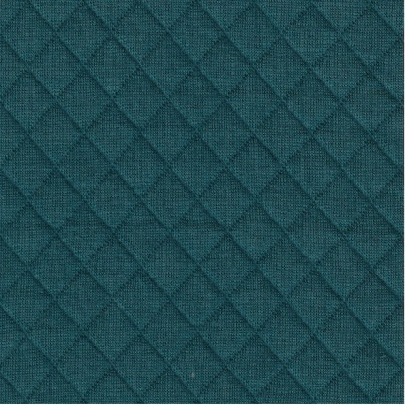 Teal Quilted Jersey - France Duval Stalla