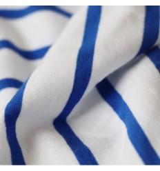 Jersey Gestreift - weiß, blau