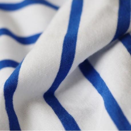 Maille Marinière - blanc, bleu