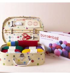 Malette Apprends à tricoter - Buttonbag