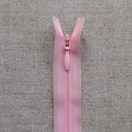 Fermeture invisible YKK - Rose