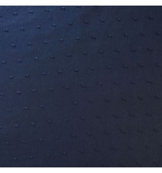 REMNANT 82CM Voile swiss-dot cotton - Navy