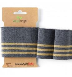 Ribbing Cuff Me Gray Gold - ALBStoffe