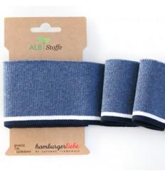 Ribbing Cuff Me Navy, blue - ALBStoffe