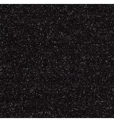 Glitzer Bündchen - schwarz, silber