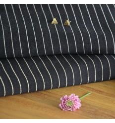 Stripe Jersey Knit - black, silver
