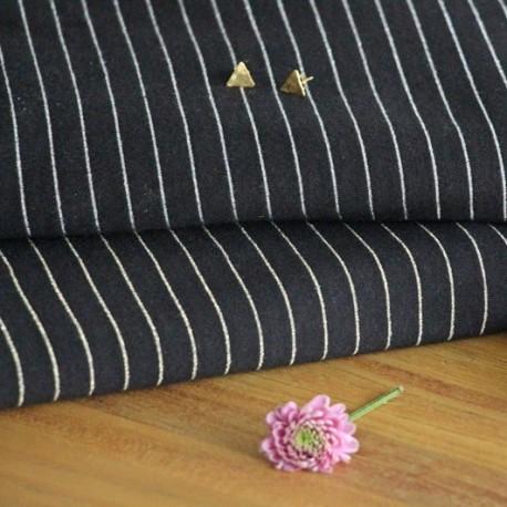 Stripe Jersey Knit - black, gold
