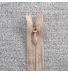 Fermeture invisible YKK - Beige
