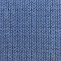 Jacquard Knit Blue / Silver - ALBStoffe