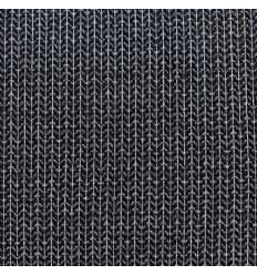 Jacquard Knit Black / Silver - ALBStoffe