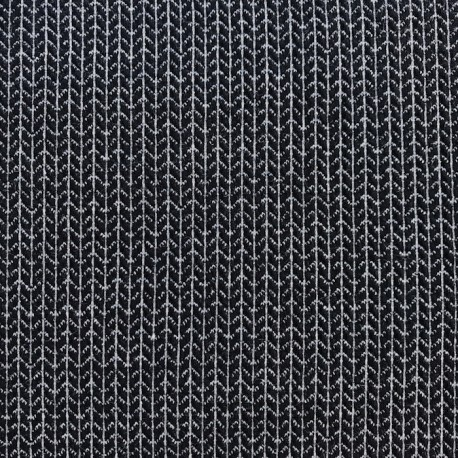 Maille Noir / Argent - ALBStoffe