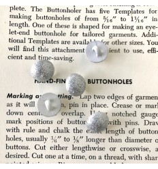Round Ball Button - Silver