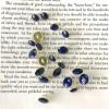 Runder Metallknopf - dunkelblau