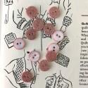 Round glitter button - Rose