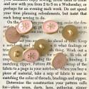 Round star button - Rose