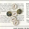 Metal button - White