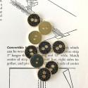 Metal button - Black