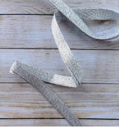 Bias binding in glitter silver
