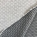 Reversible quilted jersey - Gray, Silver