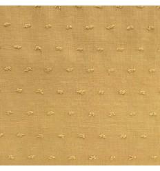 Voile swiss-dot cotton - Mustard