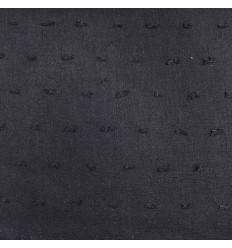 Voile swiss-dot cotton - Black