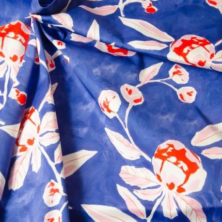 Tissu Scuba Fleuri