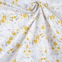 Coton Bio Fleurs Moutarde