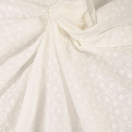 Embroidered cotton - Off-white
