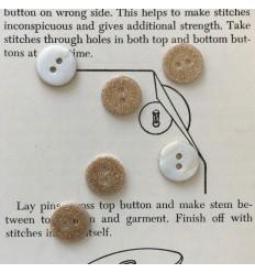 Round glitter button - Gold