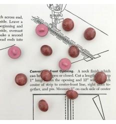 Bouton Boule à paillettes - Cuivre
