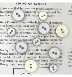 Emaillierter Knopf - Weiß