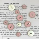 Enamelled Button - Pink, gold