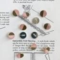 Metal Button Kaki/Pink