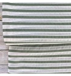 Tissu Rayures blanc/ khaki