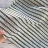 Tissu Rayures blanc/ kaki