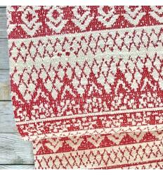 REMNANT Jacquard knit - Coral, ecru